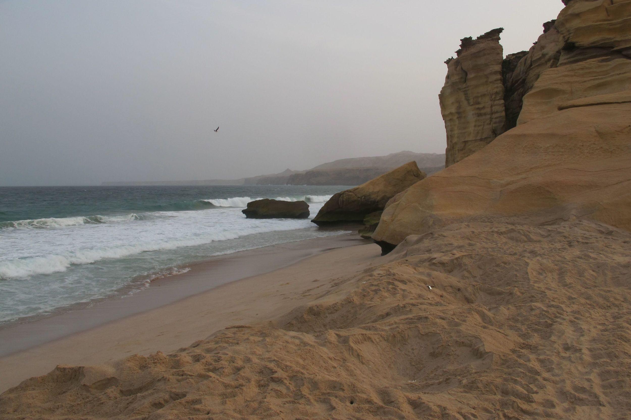 The beach at Ras Al Jinz
