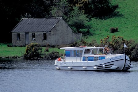 In a few days, we'll pick up a rental riverboat--and bikes-- just like this in Lattes, France.