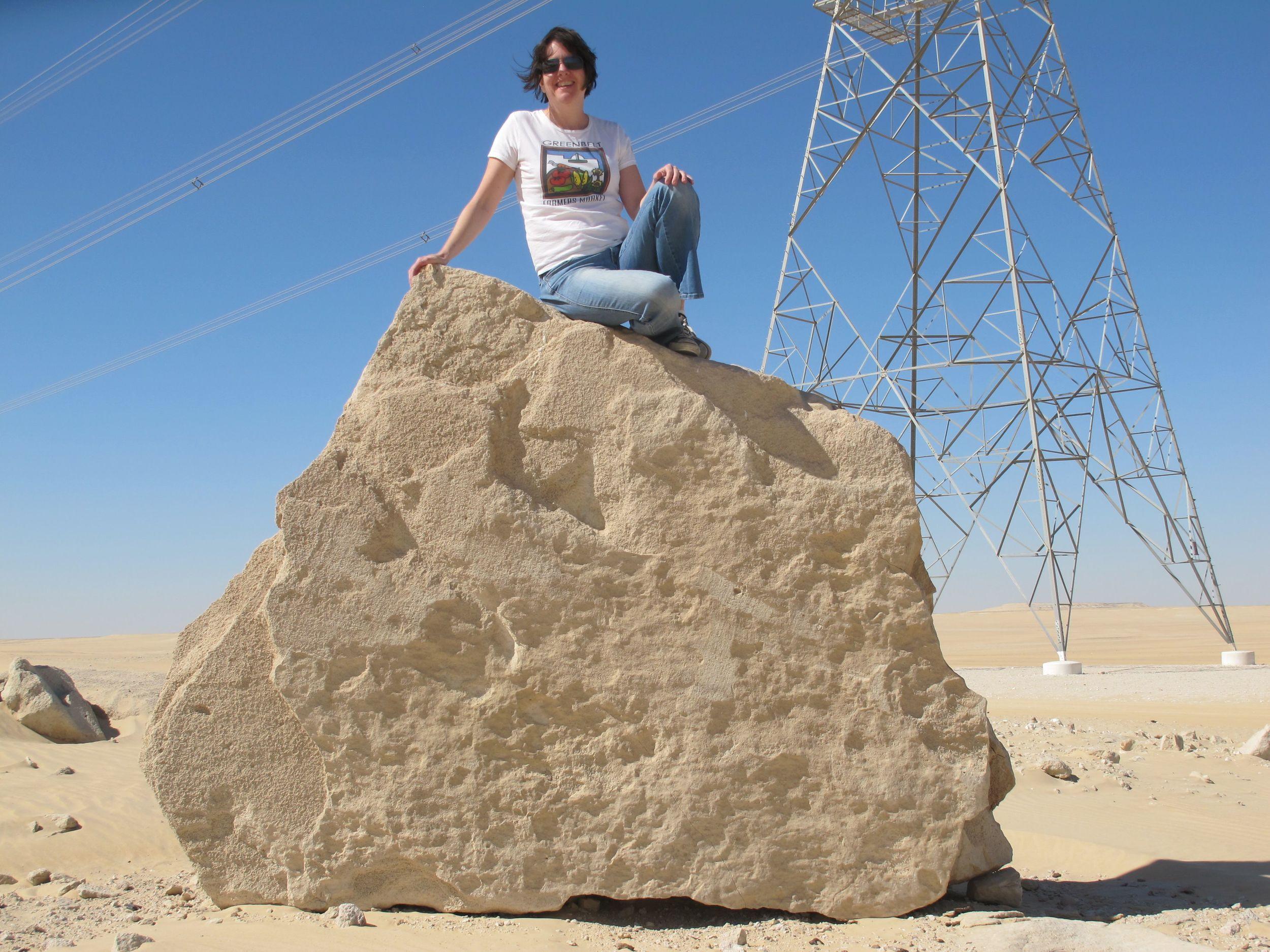 Sporting a Greenbelt Farmers Market t-shirt in the Northern Saudi desert