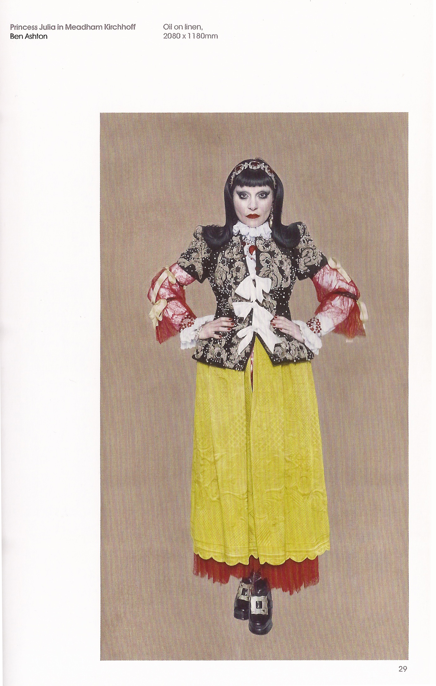 'Princess Julia in Meadham Kirchhoff' by Ben Ashton in the 2014 BP Portrait Award guide