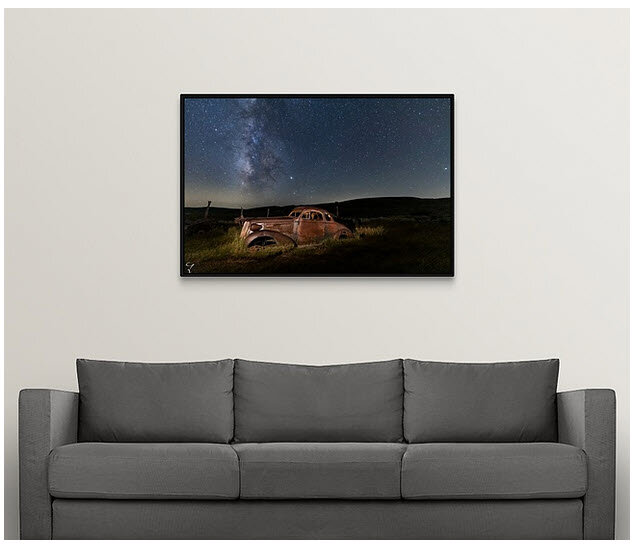 Framed or canvas photos for your home and office.