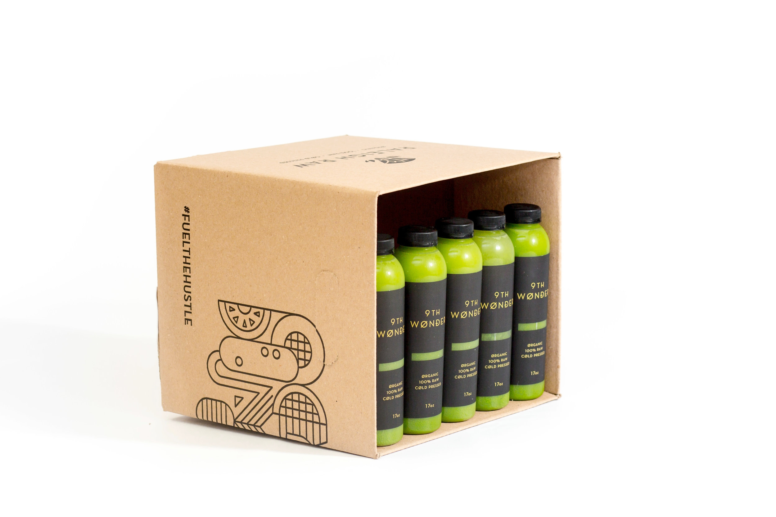 This is next level. For those who want zero fructose in their diet. 9th Wonder is bolstered only with lemon. Great for those avoiding even natural sugars. Ketogenic approved.  Use this as a once-a-week daily cleanse or drink the juices one per day to cleanse your dirty soul with pure vegetables!    Prices range from $25.05 - $77.50