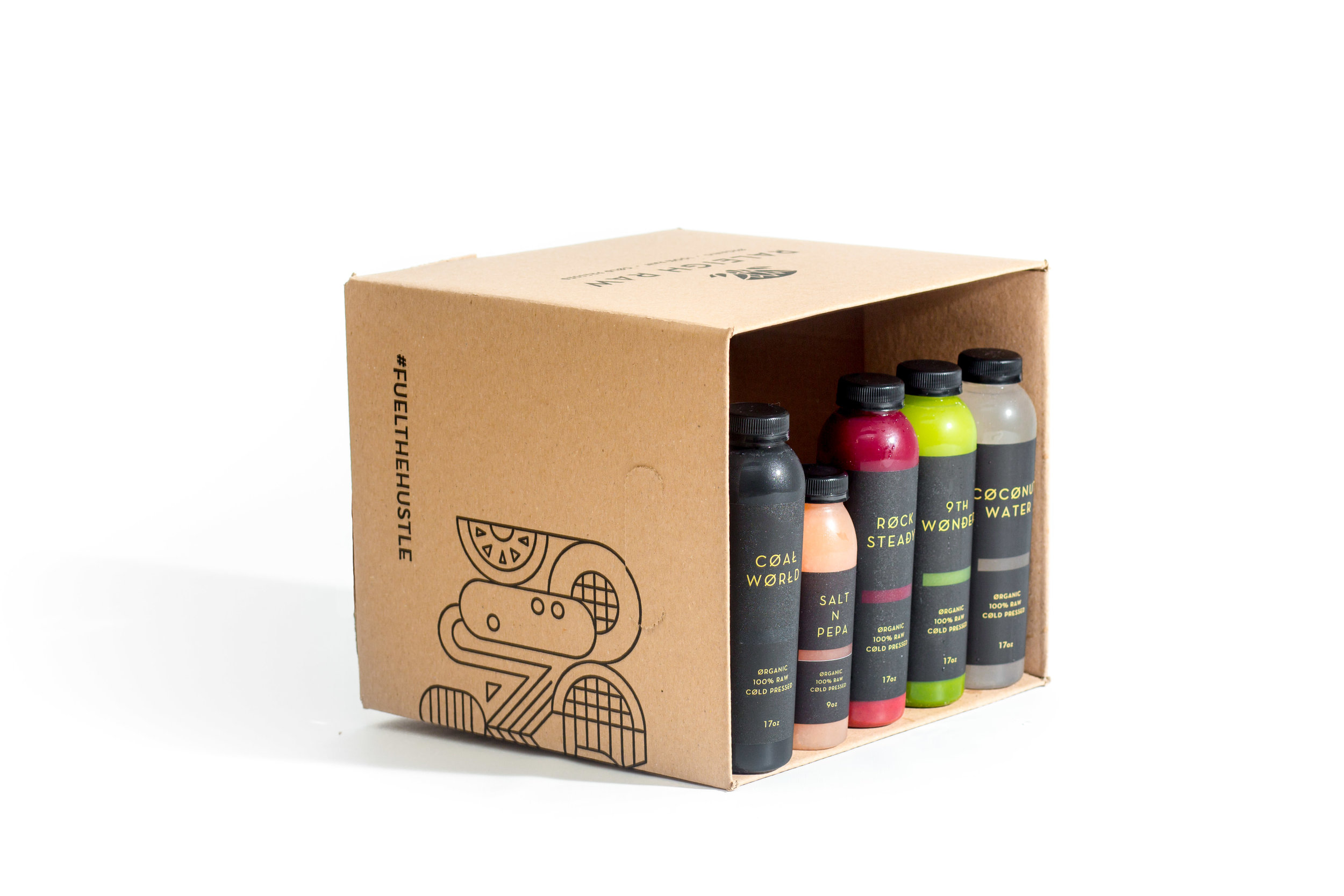 DETOX BOX - This box has concentration of nutrients designed to cleanse and detox the body - including liver and blood cleansing from beets, toxin removal with activated charcoal, and electrolyte replenishment from coconut water. Great for those who enjoy a late night out. Or those who are seeking a deep cleanse to really start fresh.