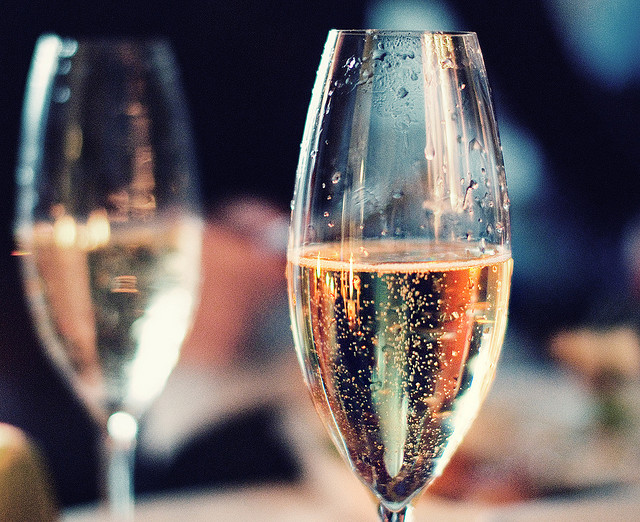 Chilled, bubbly Champagne