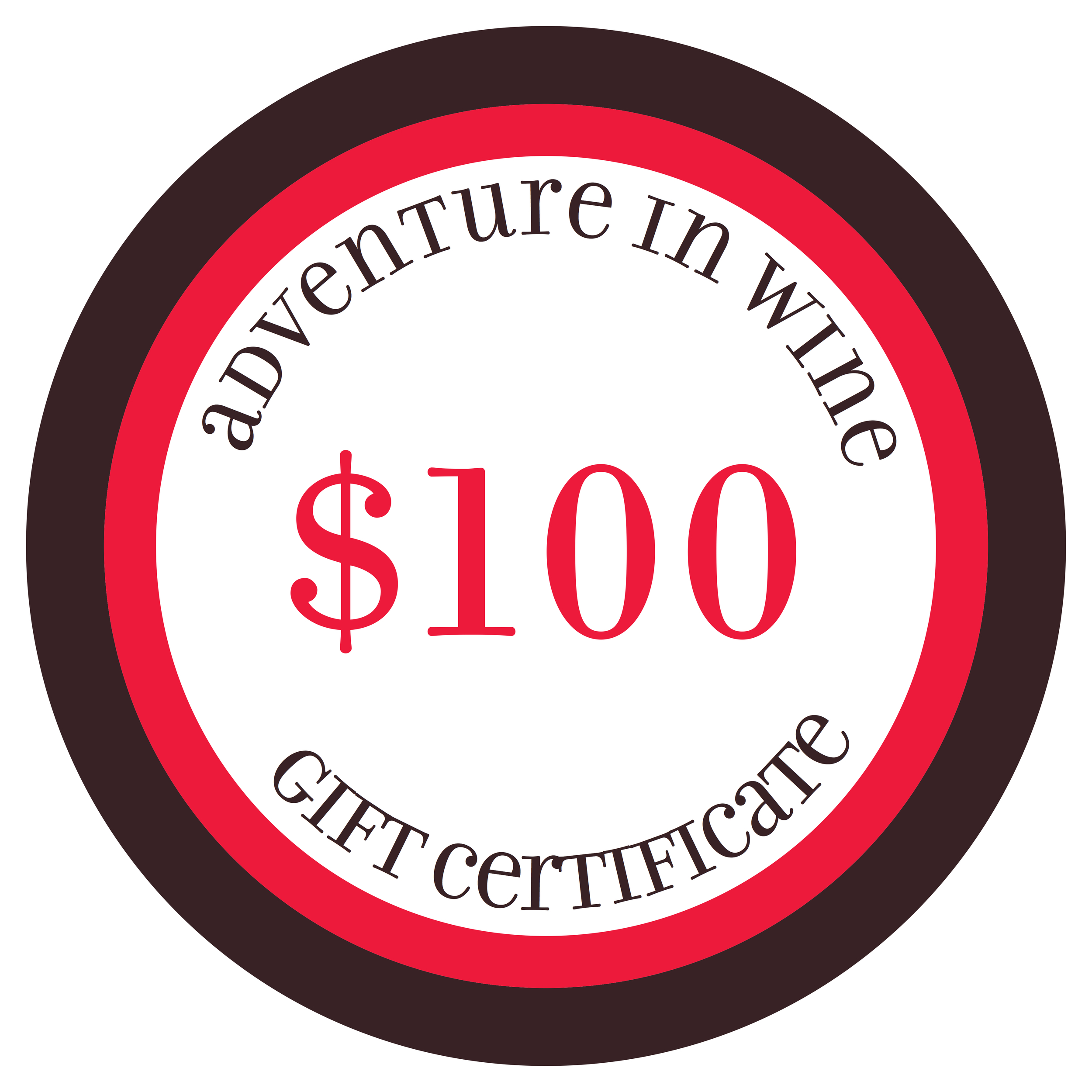 $100 gift certificate towards Adventure in Wine's WSET classes