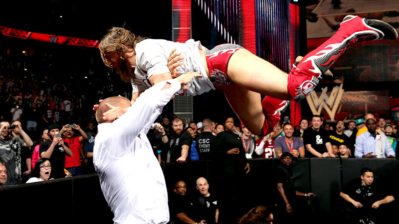 Daniel Bryan; he's flying - does that make him seem good?
