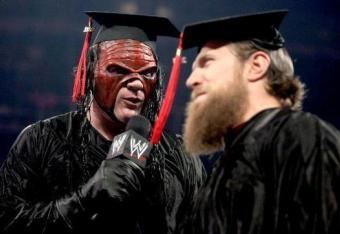 "Kane and Daniel Bryan graduate from ""anger management""."
