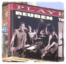 Billboard of Dan's live shot above the (sadly closed) Caernarvon Castle pub in Camden, London.