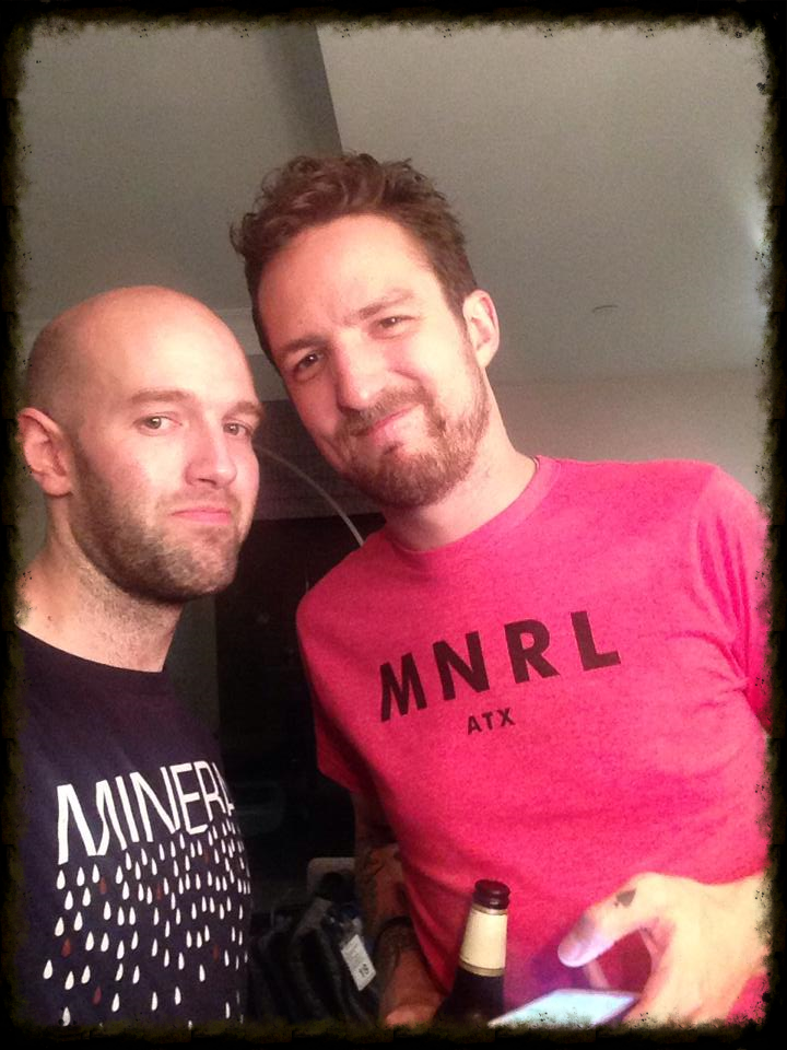 Rob and Frank in full Mineral regalia - Rob's shirt is CRYING (so emo).
