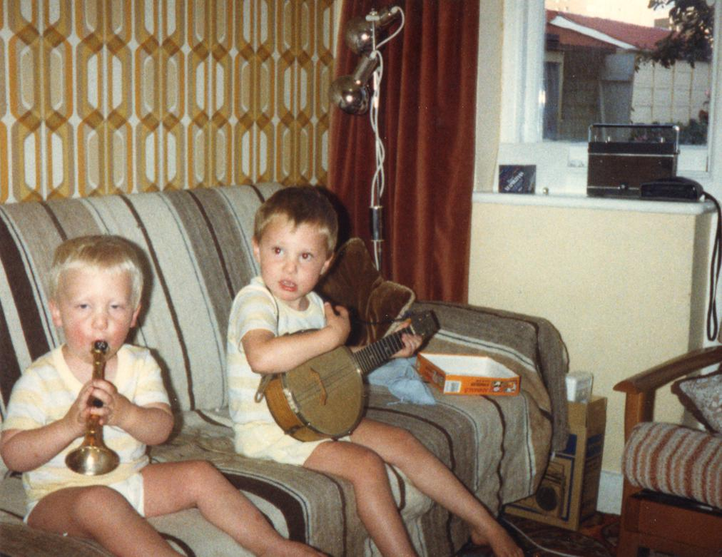 That photo - Jamie and his brother as young'uns