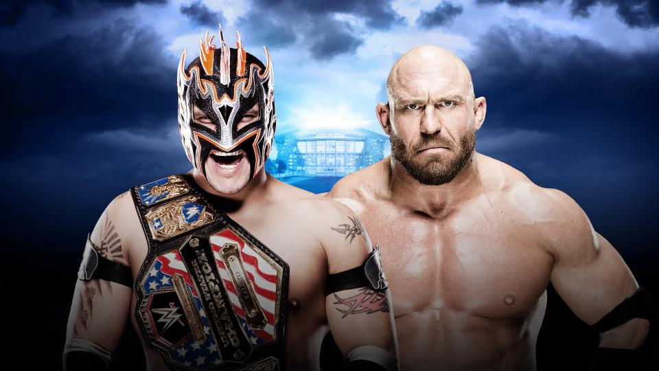 One flies, one stands still. Who is more exciting? – Image from WWE.com
