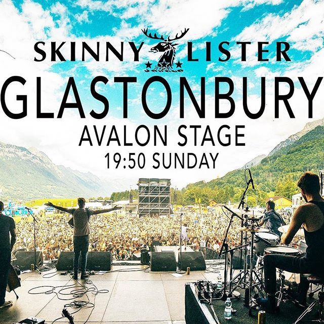 👀👀👀👀👌🏼👌🏼👌🏼💯 Don't miss @skinnylister at @glastofest this week!! #xtramile #xtramilerecordings #skinnylister #glasto2017 #glastonbury