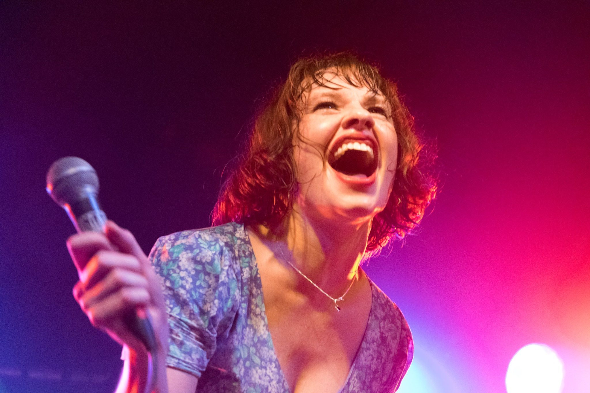"""""""Life-affirming front lady"""" Lorna Thomas of Skinny Lister"""