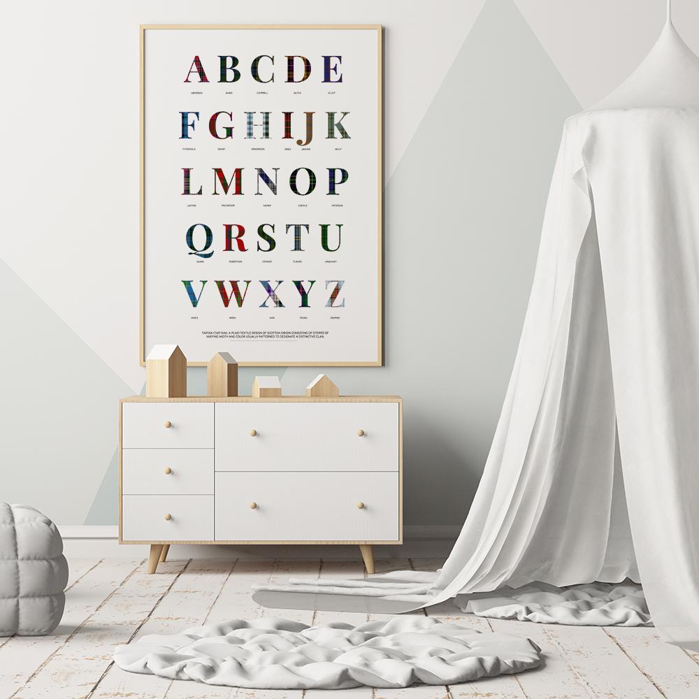 tartan print with dresser