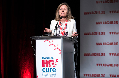 Dr. Lewin speaks at the Towards an HIV Cure Symposium, Durban, South Africa, July 2016.