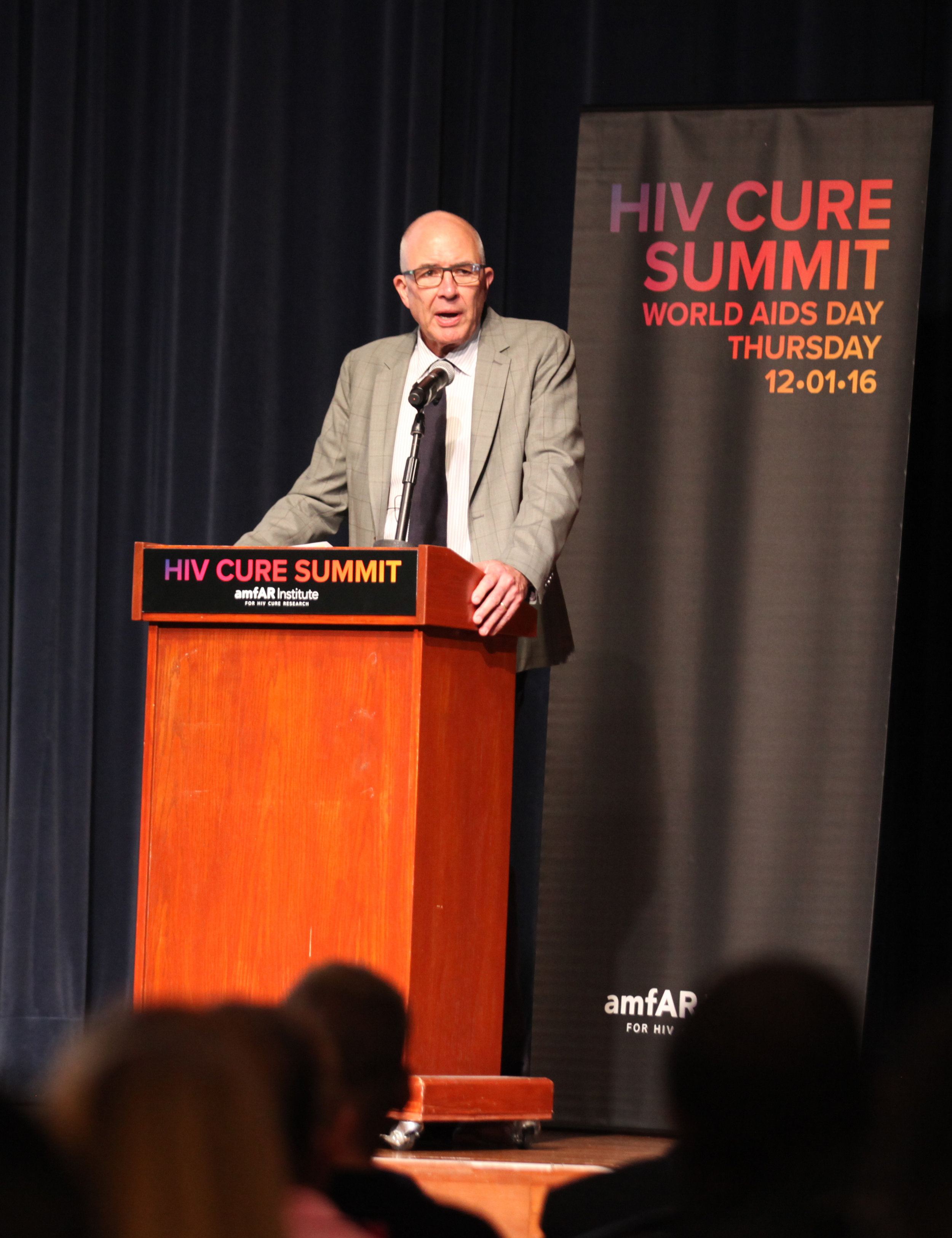 Dr. Paul Volberding, director of the amfAR Institute for HIV Cure Research