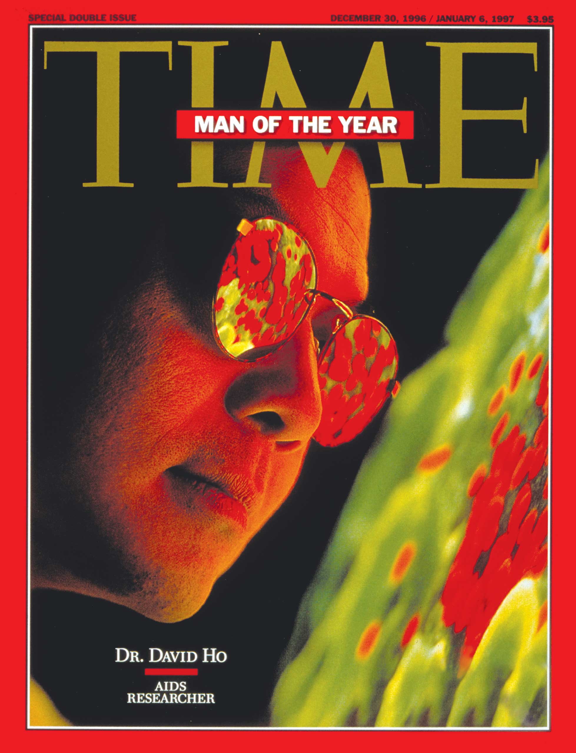 Dr. David Ho on the cover of the Dec. 30, 1996  TIME .