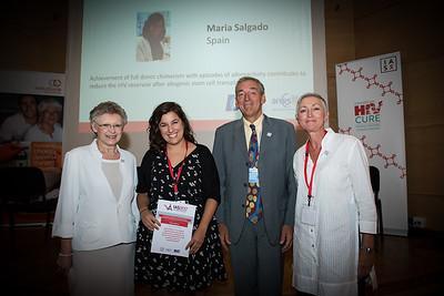 (from left) Former IAS President Dr. Françoise Barré-Sinoussi, Dr. Maria Salgado, ANRS Director Dr. François Dabis, IAS President Dr. Linda-Gail Bekker Copyright: Marcus Rose/IAS