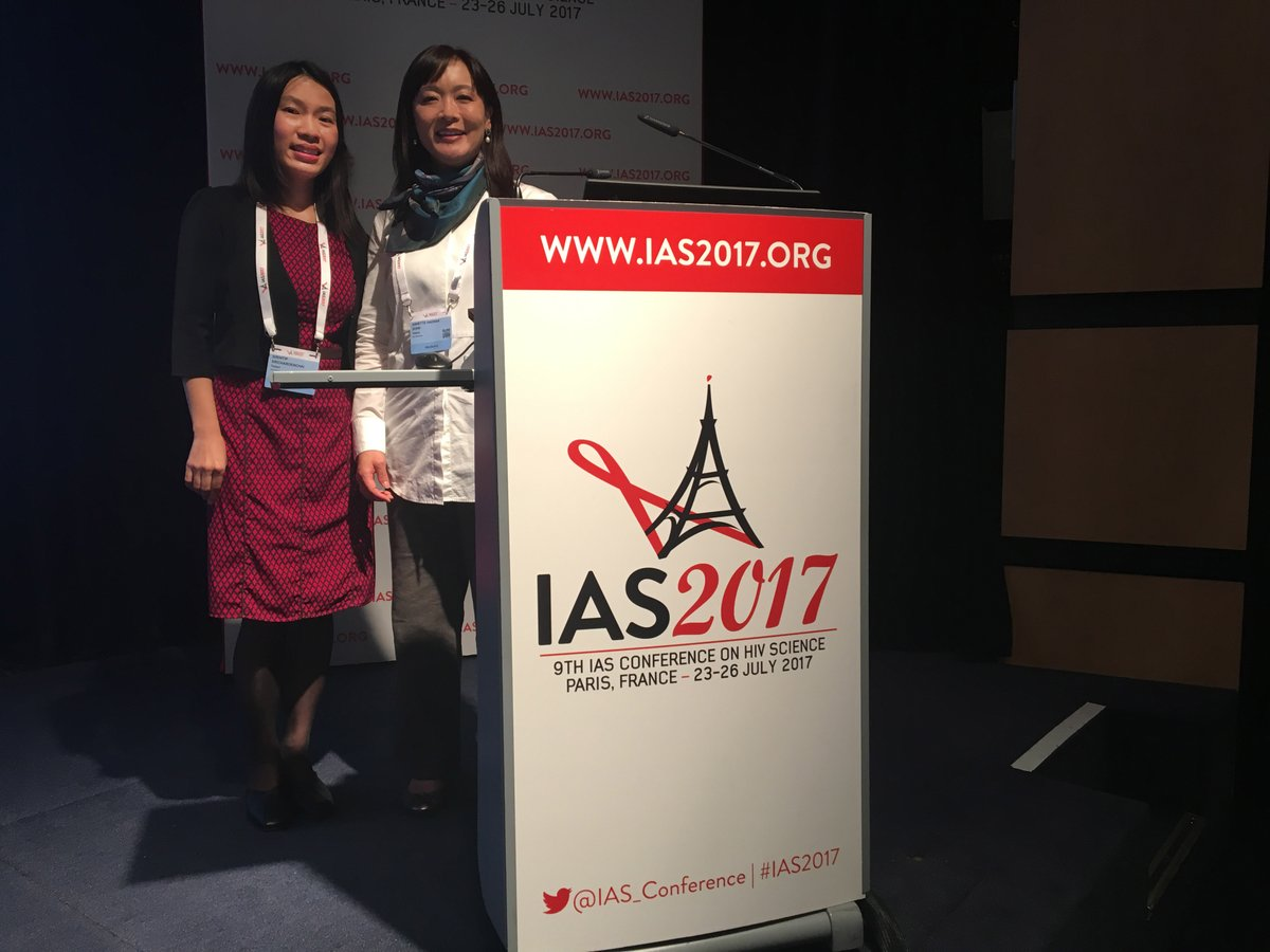 TREAT Asia presents study on high-risk HPV infection in Asian adolescents. Pictured: Dr. Sirintip Sricharoenchai of Mahidol University, Thailand, and Dr. Annette Sohn, Director of TREAT Asia.