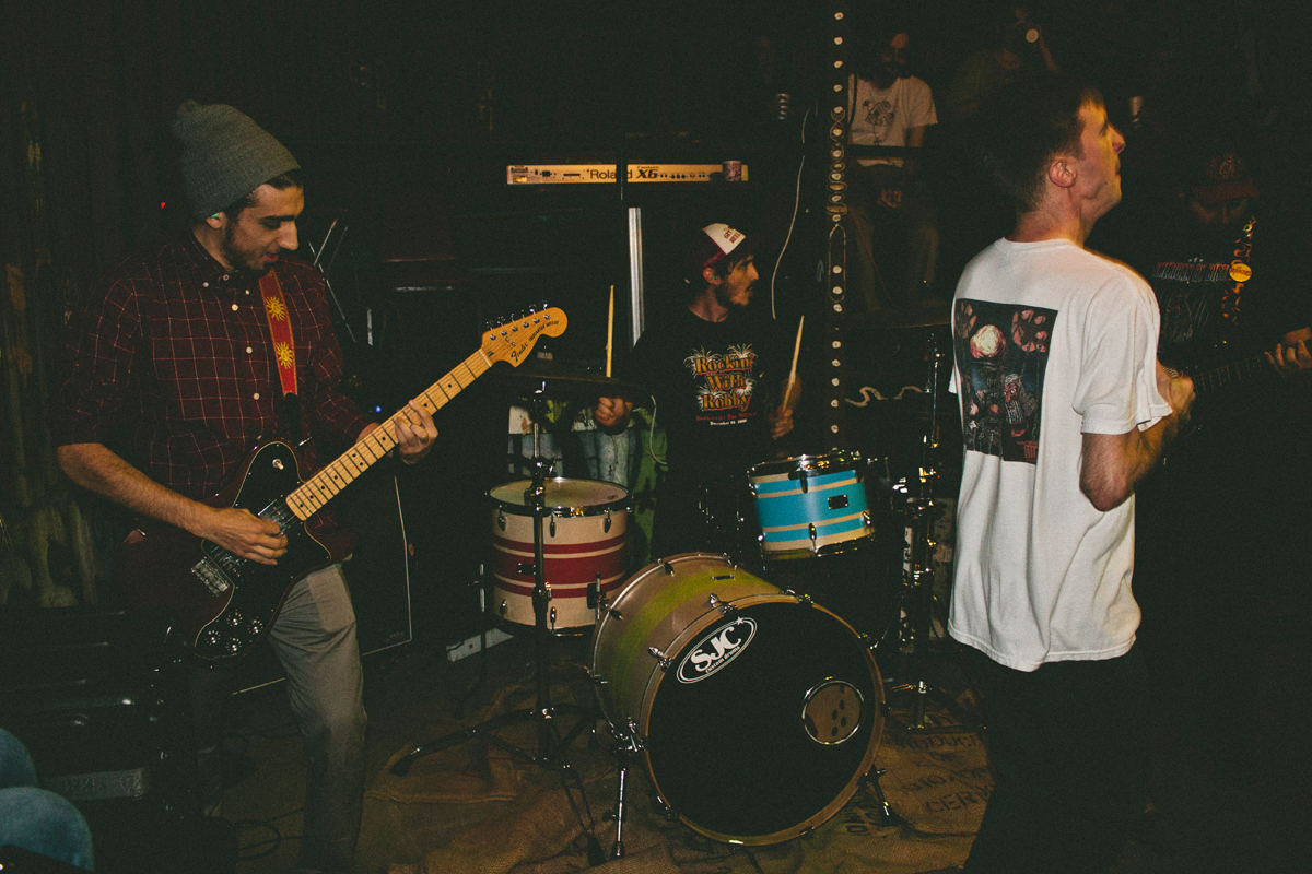 Local band Moshing X reunite with former members at a local show over holiday break.