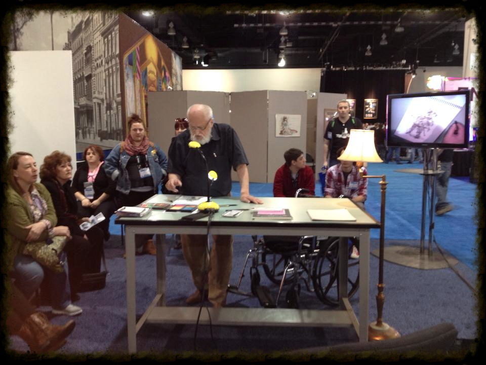 Inspiring to watch designer Desmond Heeley work at the National USITT conference in Milwaukee 2013.