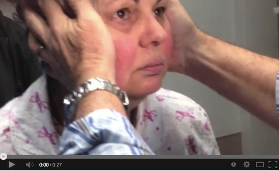 Abnormal head impulse test - Courtesy of Dr. Peter Johns