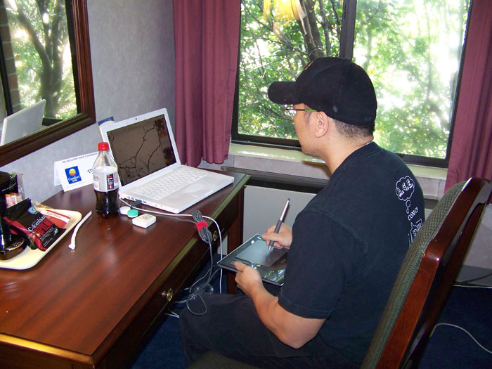 A far-too-regular situation: me working on my laptop in a hotel somewhere while on the road.