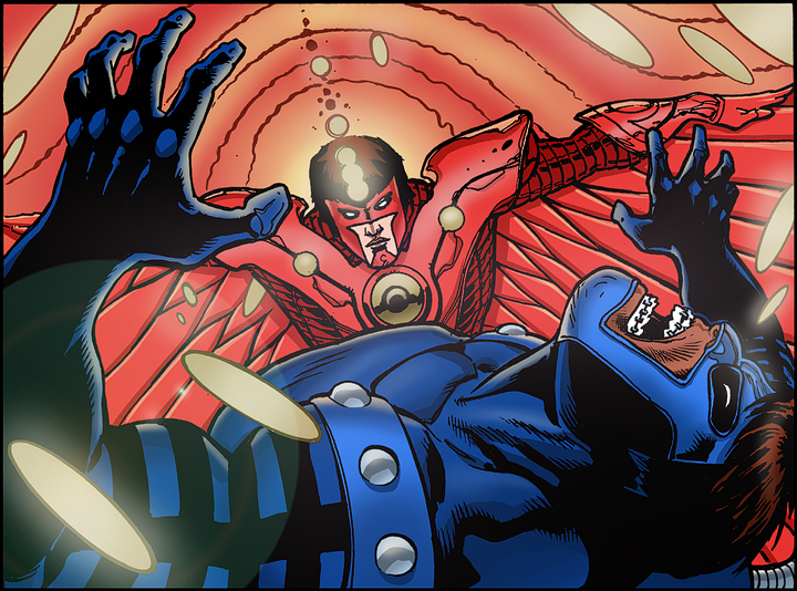 Line art: Doug Mahnke.  Colors: Tom Nguyen