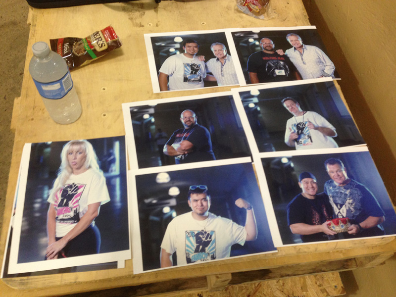 Fans could get their prints right away after the shoot so that the celebs could autograph them.