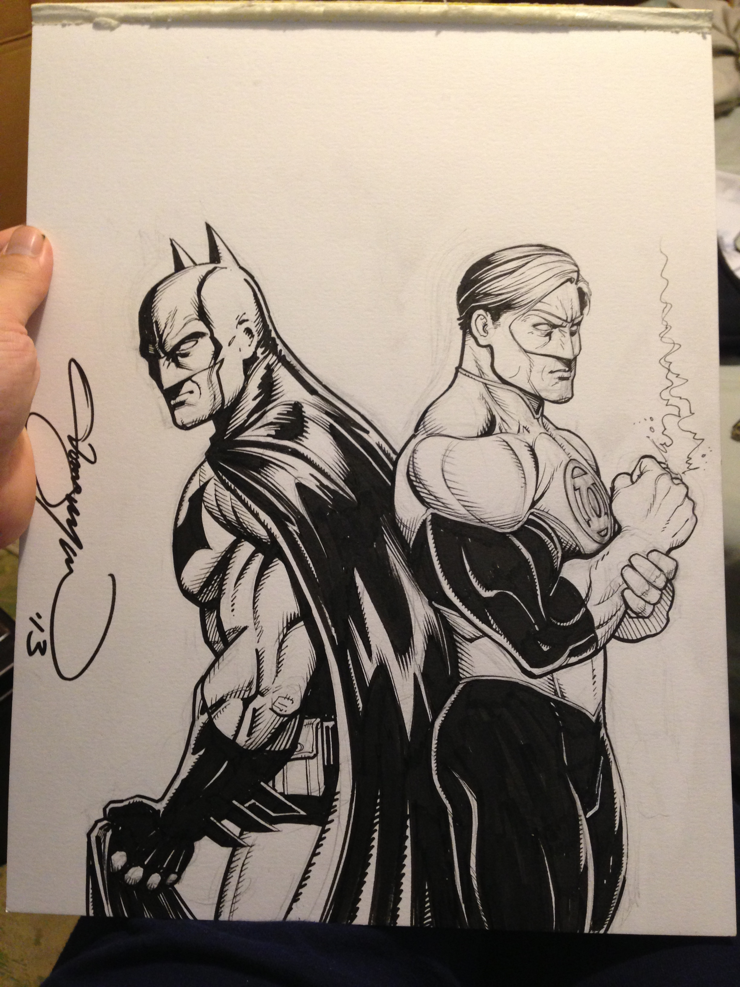 Batman/Green Lantern commission for Scott and his son from the Knoxville area.