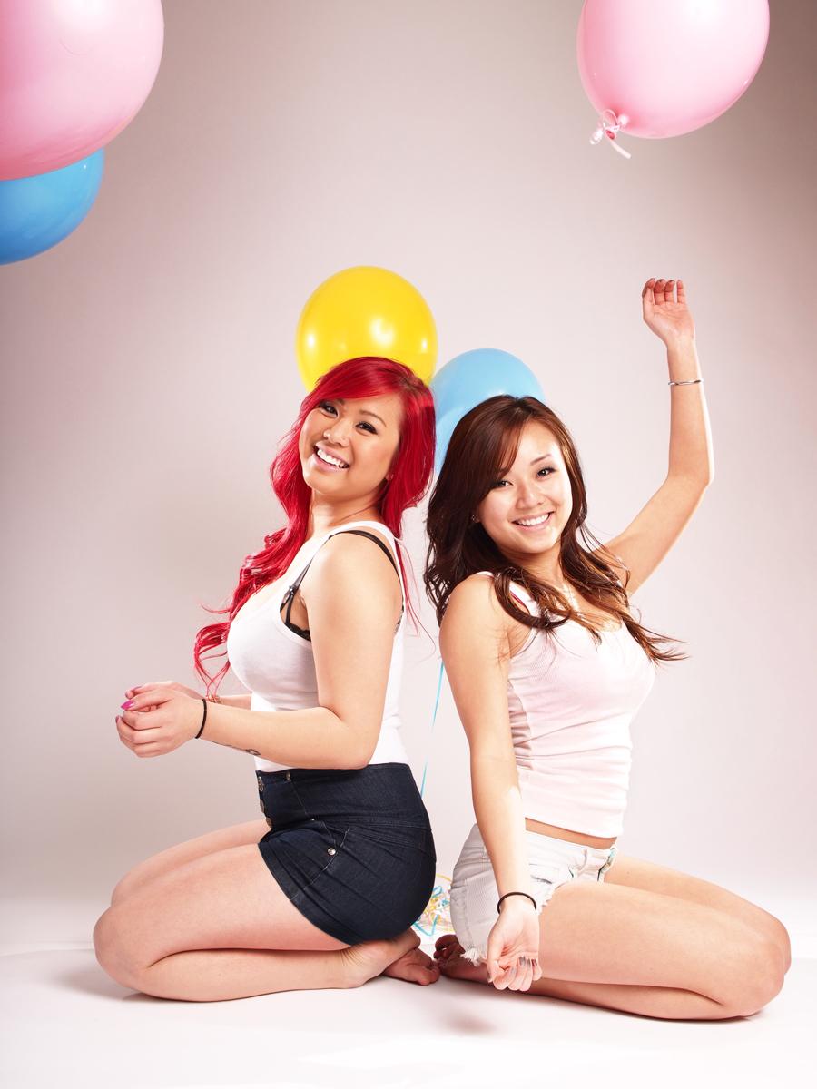 Vikky (left) and Jenny.