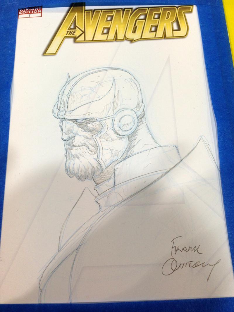 Frank Quitely pencil sketch.