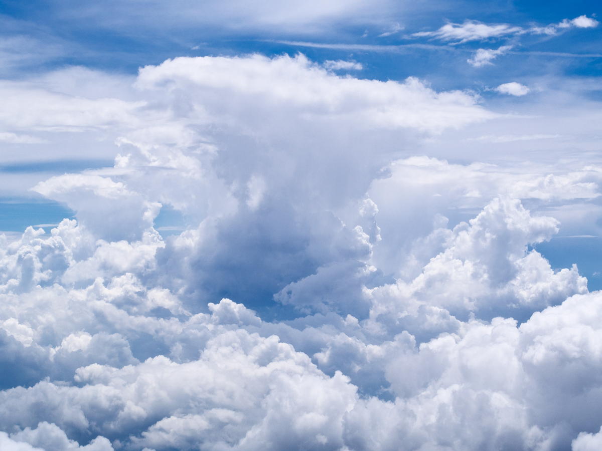 Unlike shooting people, even clouds can look awesome in mid-day light if the texture is there.