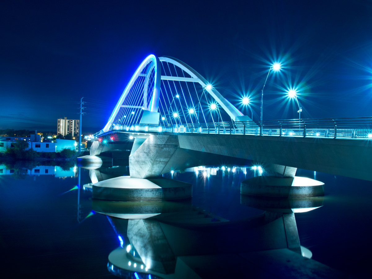 The Lowry Avenue Bridge... so pretty!  Lens: Panasonic 12-35mm/2.8.