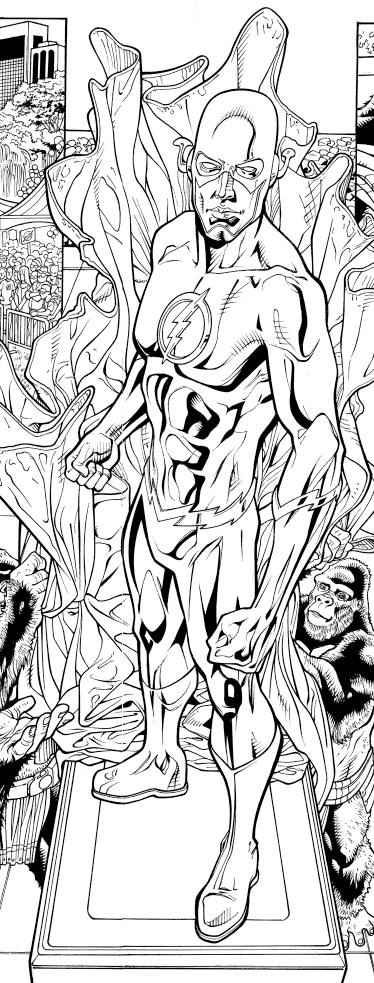 Before modification.  Pencils: Chris Batista Inks: Tom Nguyen