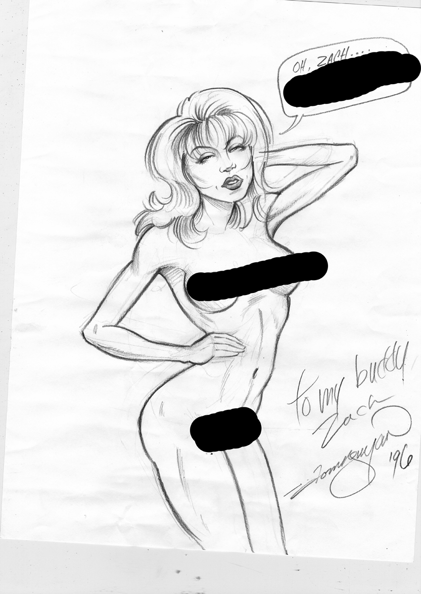 Age 19.  At least I realized how much my drawings of women sucked back then, and it drove me to practice.