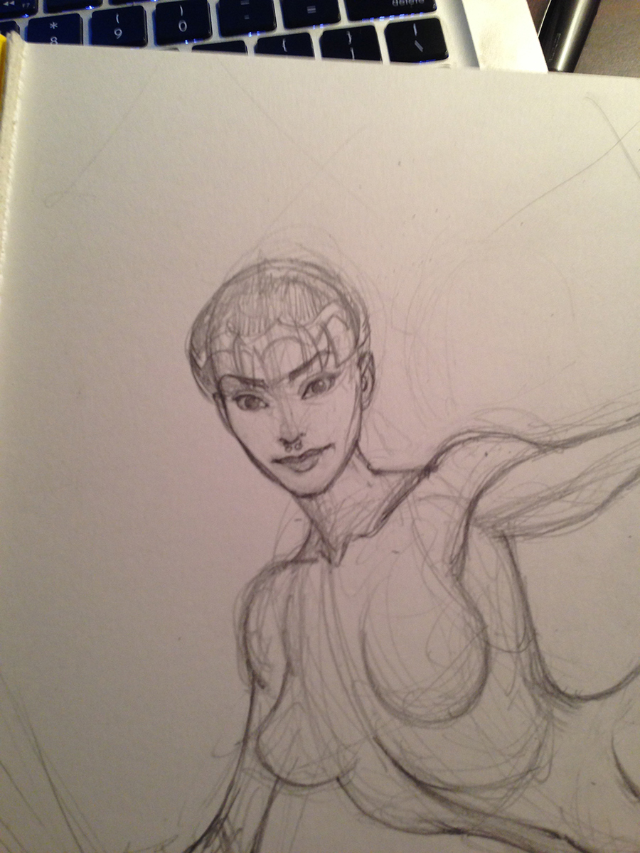 Refining the face and getting a likeness