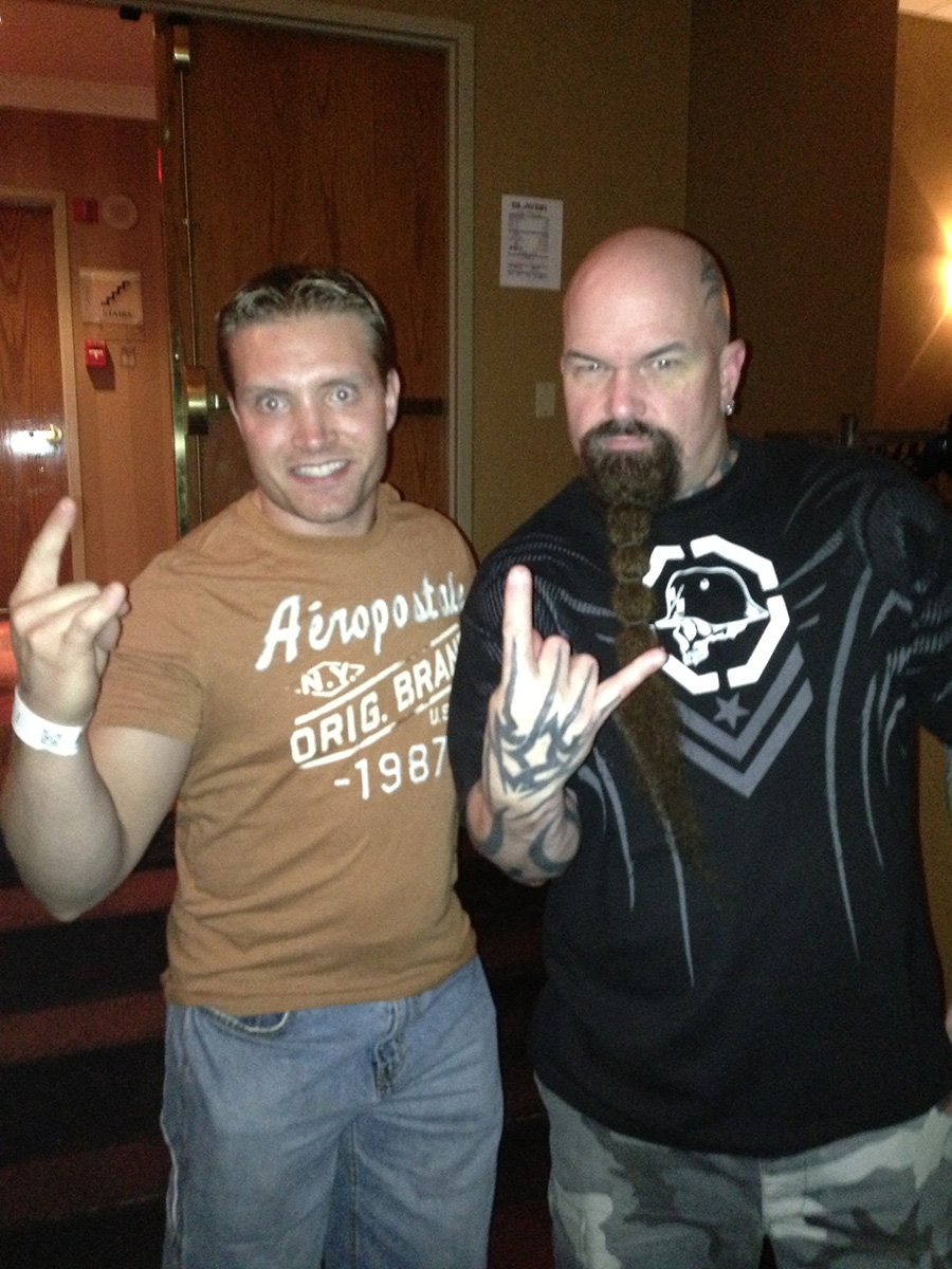 My friend Shaun and Kerry King.