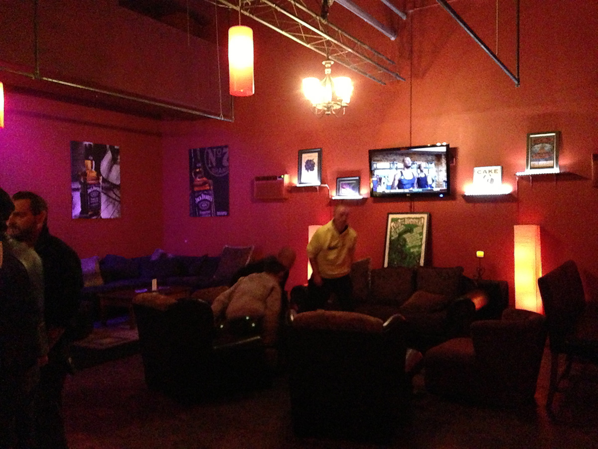 VIP lounge in Houston before the show. Spacious quiet, easy access to alcohol.