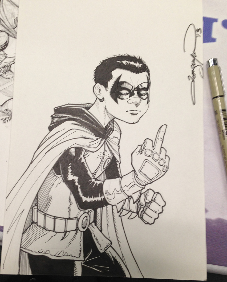 """ F-you !"" says Damian Wayne."