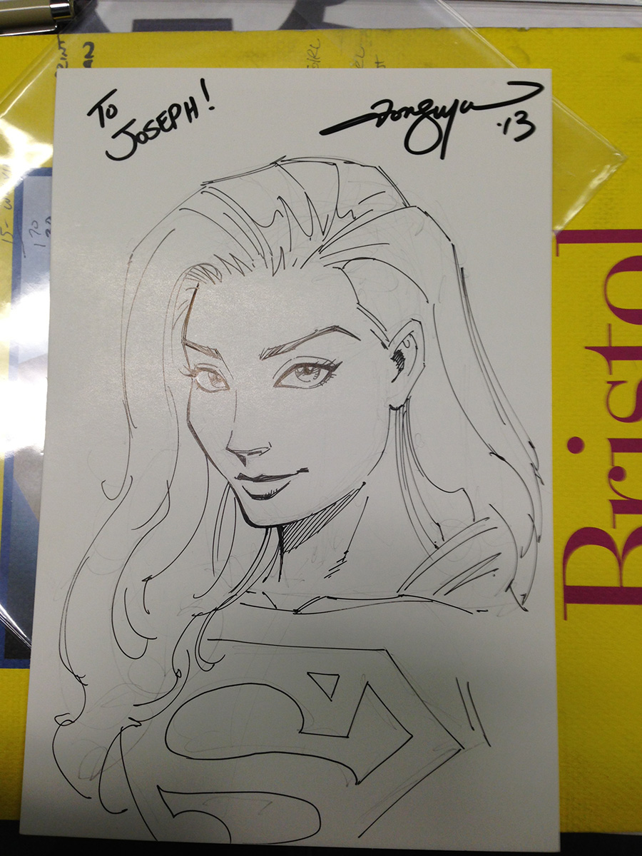 This is the sketch I did for Joseph.   HINT:   Art Samurai students get special perks when I meet them in person.  ;)