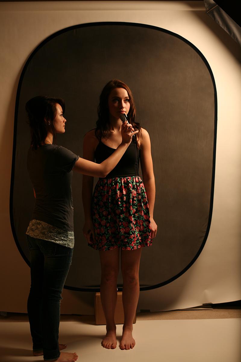Model  J  ayla Thompson  (with lighting assistant  Meili Situ ) Hair/makeup:  Sandy Nguyen