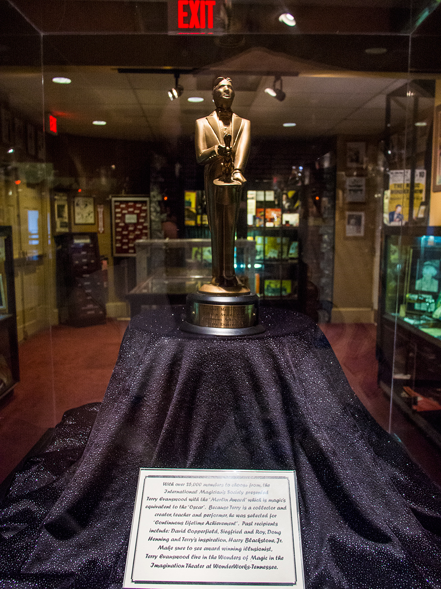 Terry's Merlin Award, which is like the Oscar Award in the world of magic.
