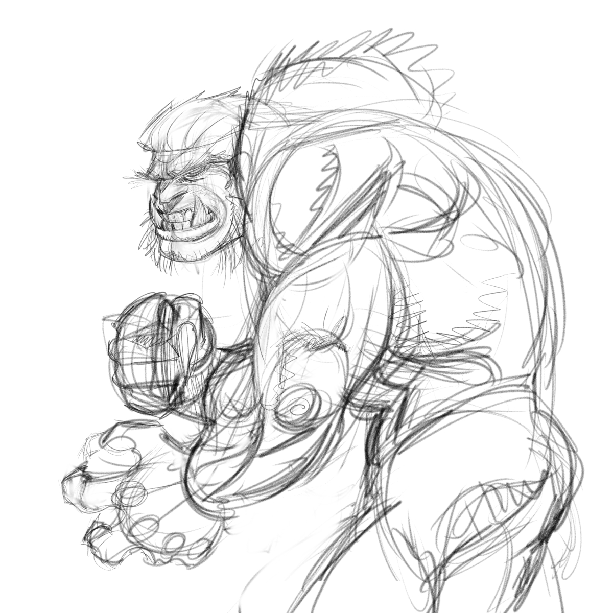 Sabretooth pencil rough