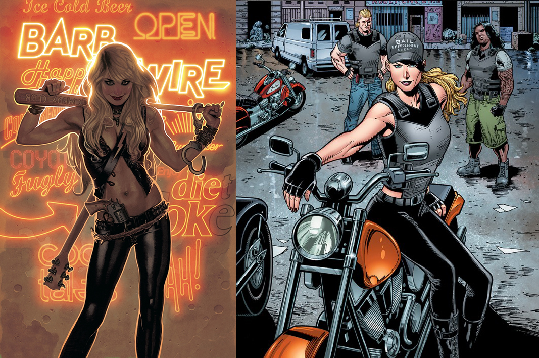 This year  Dark Horse Comics  relaunched the  Barb Wire  comic book that I was fortunate to work on with  Chris Warner ,  Patrick Olliffe ,  Mike Heisler ,  Gabe Eltaeb ,  Freddye Miller , and  Randy Stradley .