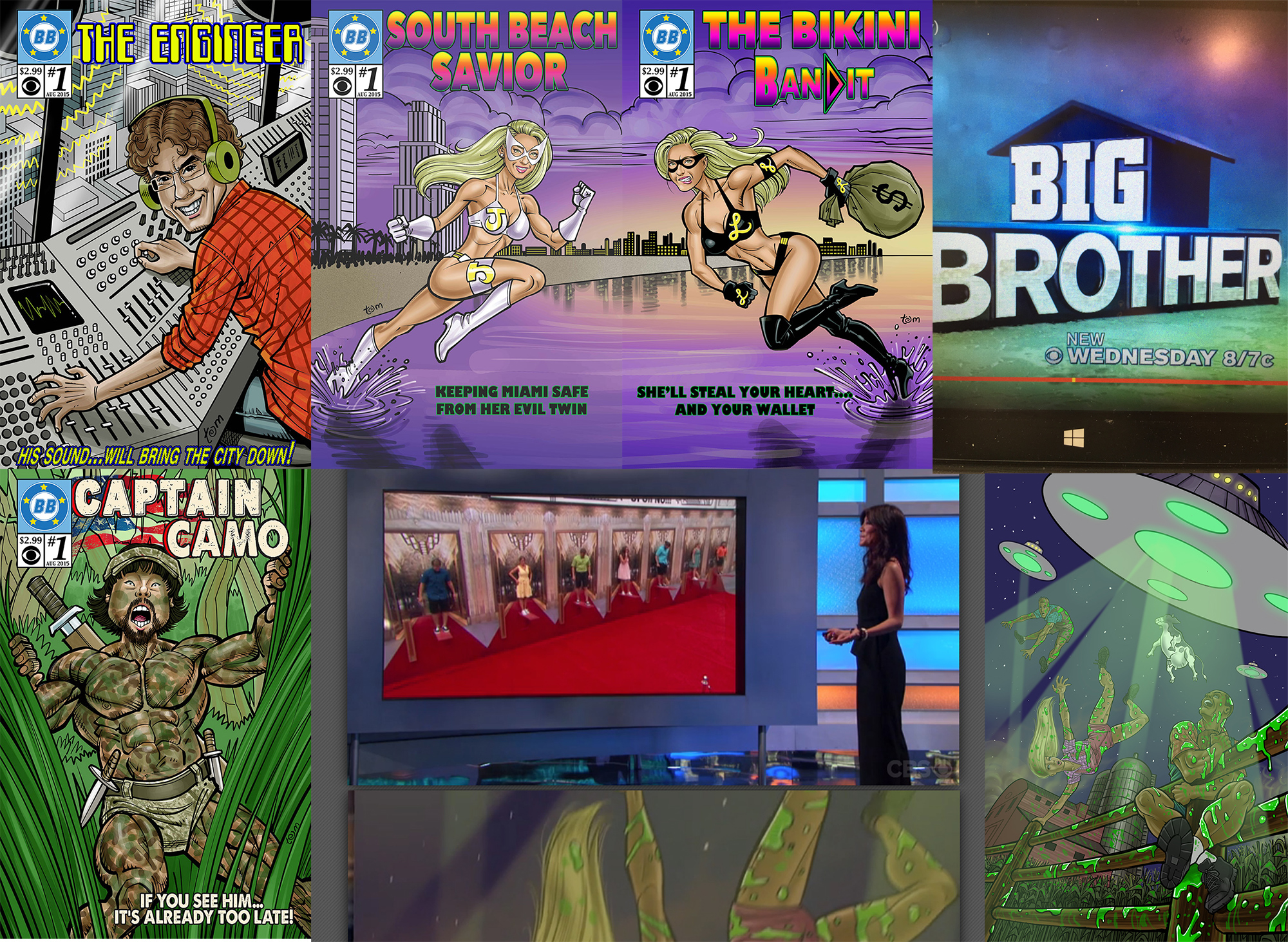 2015 I did quite a bit more television work than in 2014. I was asked back to do artwork for   CBS's Big Brother 17  , and even did some behind-the-scenes concept/storyboard art for the show.  Big thanks to Heath, Jessie, Andrew, and Shukra for the opportunity!