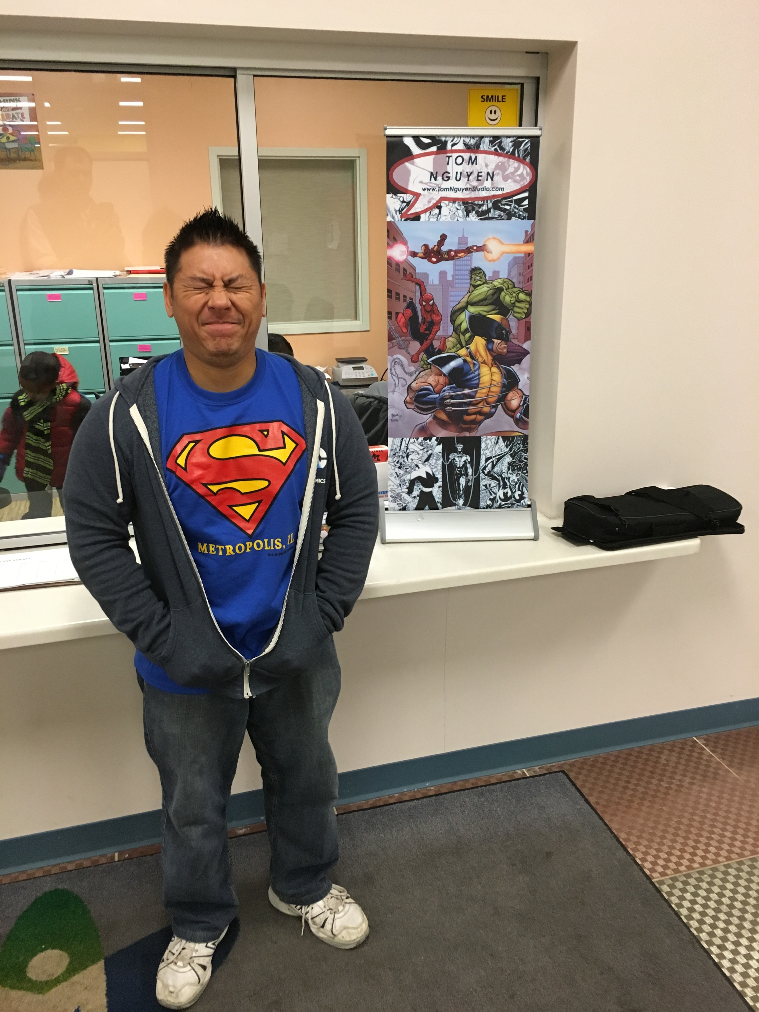 what a nerd, Superman shirt + DC Comics hoodie