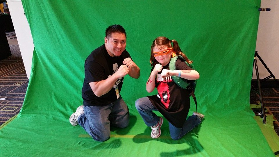Doing a photo op with superfan Desiree