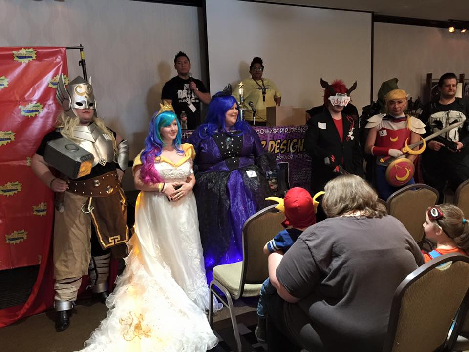 Doing some announcing for the costume contest