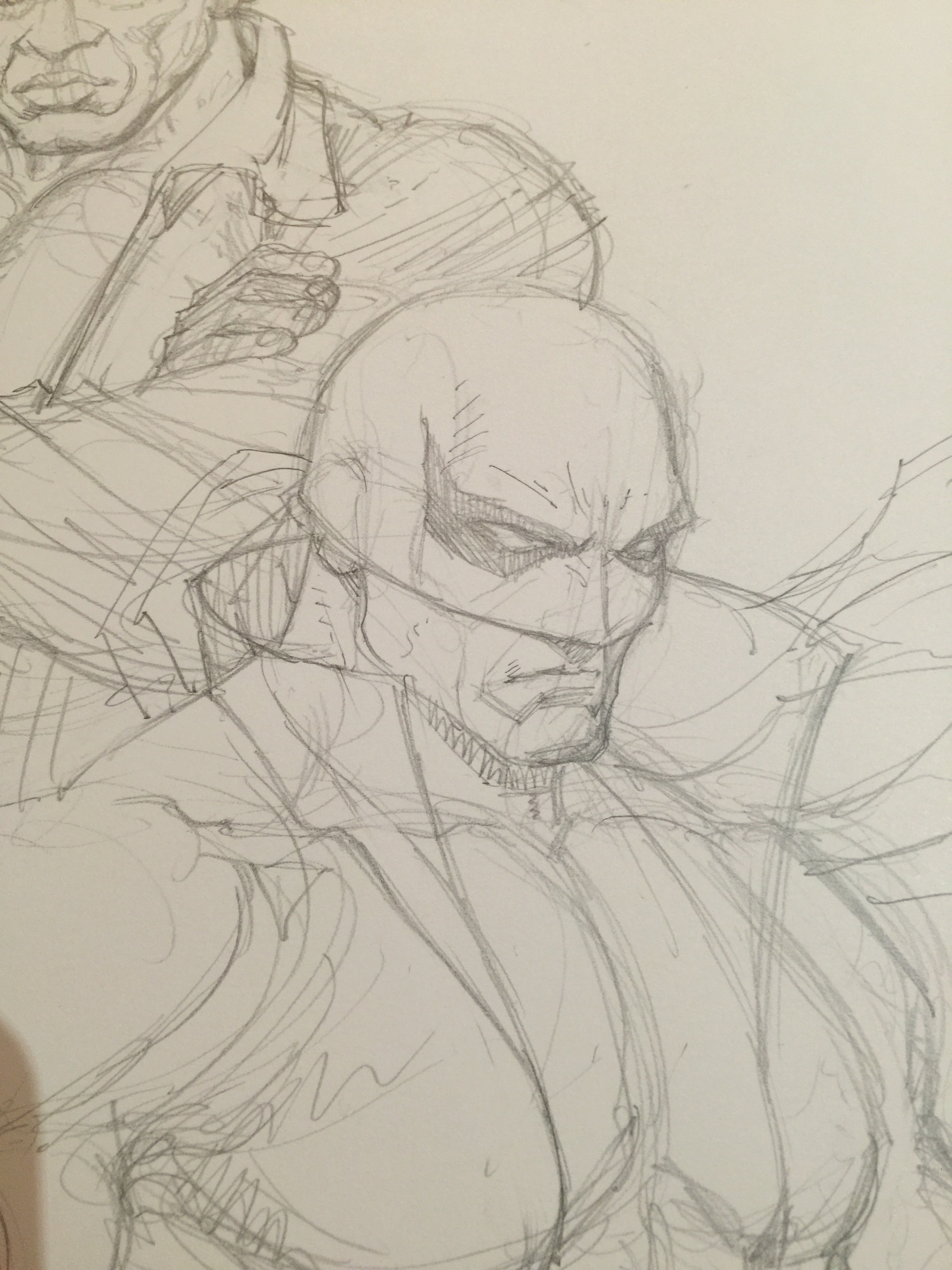 one of my sketches--Iron Fist in progress